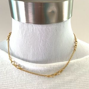 Madewell heart chain choker necklace gold